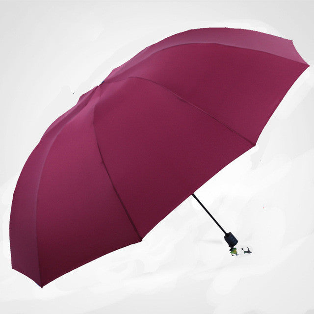 Durable quality umbrella for men and woman. Rain and windproof. Paraguas protection against UV rays.
