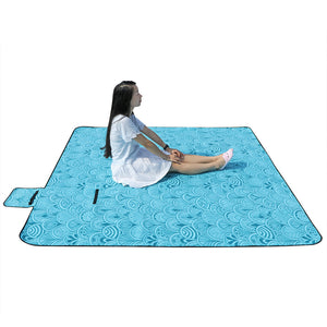"59*79"" Large Waterproof, Outdoor Fleece Camping Blanket Mat."