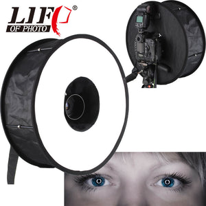 "Universal 18"" 46cm Easy-fold Ring Flash Softbox Diffuser Reflector for Macro Shoot for Canon for Nikon Metz YONGNUO"