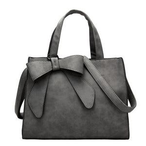 Vogue star Women Bag Bow Large Capacity PU Leather Handbag Shoulder Bags Messenger Bag Casual Tote Blosa LB442