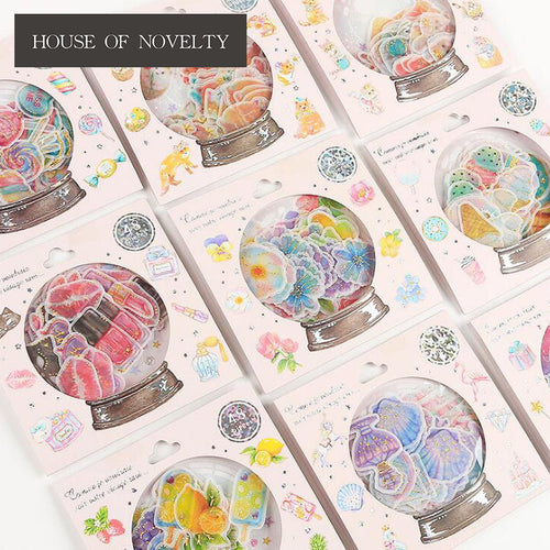 Crystal Ball Gilding Sea Candy Stickers Adhesive Stickers DIY Decoration Stickers