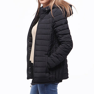 HEE GRAND Women Hooded Parkas Thin Casual Padded Winter Coat Quilted Jacket Solid Elegant Loose Plus size Outwears WWM1674