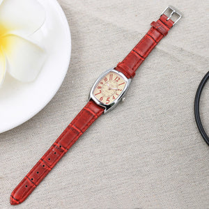 Fashion Color Strap Digital Dial Leather Band Quartz Analog Wrist Watches