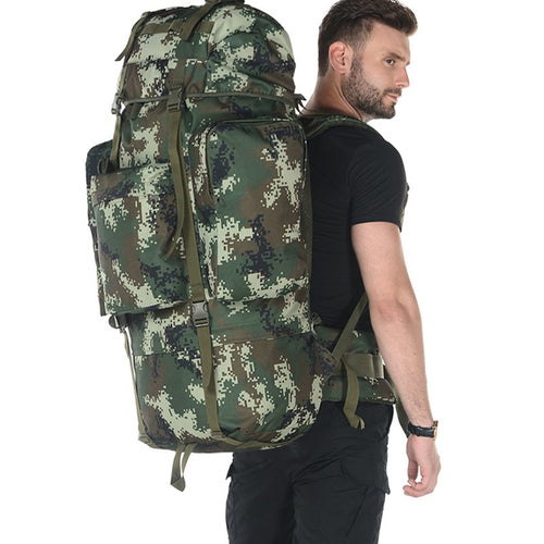 Brand high-capacity backpack bracket professional 100L mountaineering bag.  Multifunctional bag.