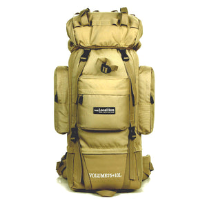 Brand High-capacity bracket professional 85L mountaineering bag outdoor backpack. Waterproof travel. Multifunctional.