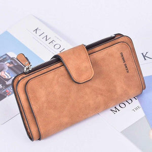 Women Wallets fashion Drawstring Nubuck Leather Zipper phone Wallet Women's Long Design Purse nubuck leather hasp Clutch