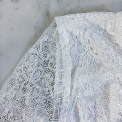 White Lace Pants Jumpsuit
