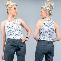 Polka Dot Ruffle Blouse Shirt