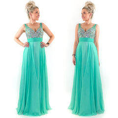 Mint Green Prom Dress Pageant Gown