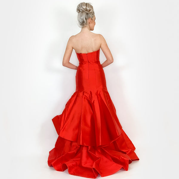 Red Couture Evening Gown Pageant Dress