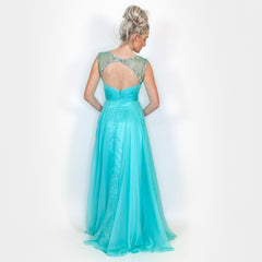 Rhinestone Off Shoulder Pageant Gown Prom Dress