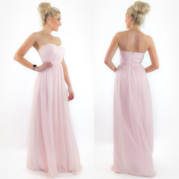 Pink Chiffon Long Bridesmaid Dress Camille La Vie