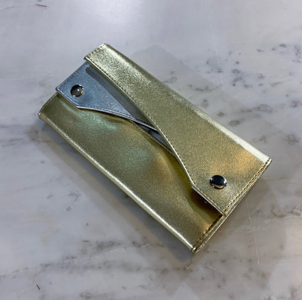 Gold and Silver Clutch Wallet