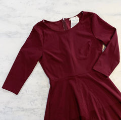 Burgundy Red High Low Party Dress