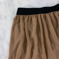 Neutral Boho High Low Skirt Forever 21