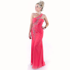 Asymmetric One Shoulder Prom Dress