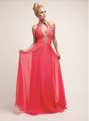 Watermelon Prom Dress Pageant Gown