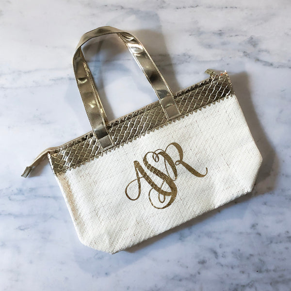 Personalized Gold Custom Handbag