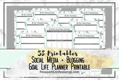 Blog Planning Printables Mint Green Marble