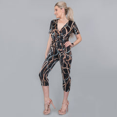 Contemporary Cropped Pants Jumpsuit
