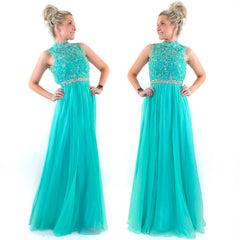 Jade Floral Teen Pageant Prom Dress
