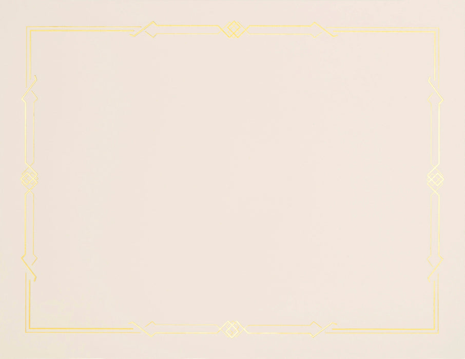 St.James® Premium Weight Gatsby Design, Gold Foil, Ivory, Pack of 15