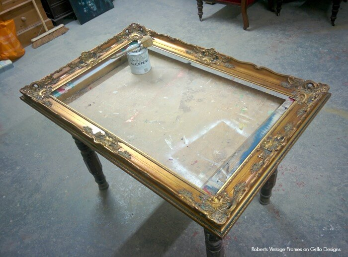 chalk painting picture frames