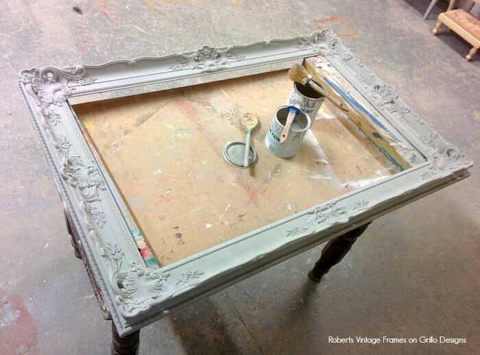 how to paint picture frame
