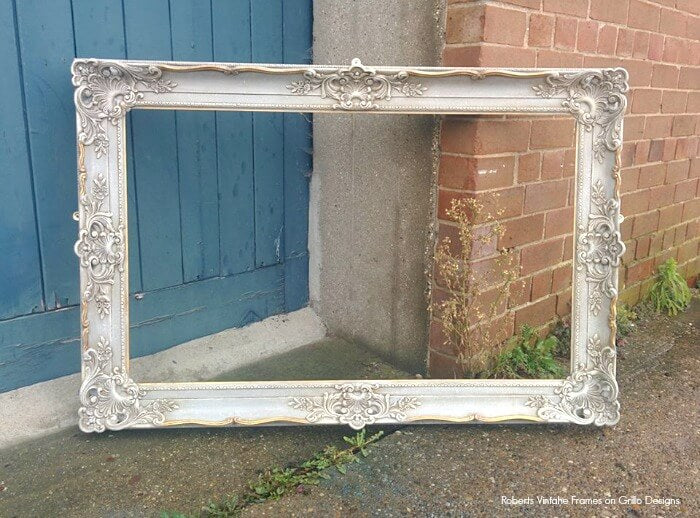 chalk paint picture frame