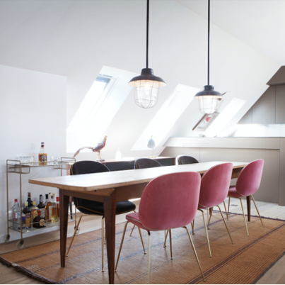 Long Scandinavian Table