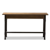 Baxton Studio Zeta Rustic Industrial Metal and Distressed Wood 3-Drawer Storage Desk