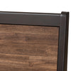 Baxton Studio Selena Mid-Century Modern Brown Wood Queen Size Platform Bed