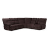 Baxton Studio Sabella Modern and Contemporary Taupe and Chocolate Two-Tone Fabric 7-Piece Reclining Sectional