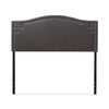 Baxton Studio Aubrey Modern and Contemporary Dark Grey Fabric Upholstered Headboard