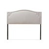 Baxton Studio Aubrey Modern and Contemporary Grayish Beige Fabric Upholstered Headboard