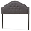 Baxton Studio Cora Modern and Contemporary Dark Grey Fabric Upholstered Headboard