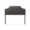 Baxton Studio Avignon Modern and Contemporary Dark Grey Fabric Upholstered Headboard