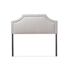 Baxton Studio Avignon Modern and Contemporary Grayish Beige Fabric Upholstered Headboard