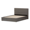Baxton Studio Rene Modern and Contemporary Grey Fabric 4-drawer Storage Platform Bed