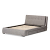 Baxton Studio Camile Modern and Contemporary Grey Fabric Upholstered 4-Drawer Storage Platform Bed