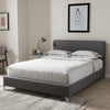 Baxton Studio Harlow Modern and Contemporary Grey Quilted Fabric Upholstered Platform Bed