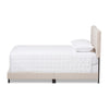 Baxton Studio Cassandra Modern and Contemporary Light Beige Fabric Upholstered Bed