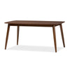 "Baxton Studio Flora Mid-Century Modern ""Oak"" Medium Brown Finishing Wood Dining Table"