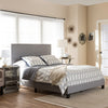 Baxton Studio Ramon Modern and Contemporary Grey Fabric Upholstered Queen Size Bed with Nail Heads