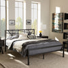 Baxton Studio Barkley Vintage Industrial Black Finished Metal Platform Bed
