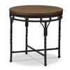 Baxton Studio Austin Vintage Industrial Antique Bronze Round End Table