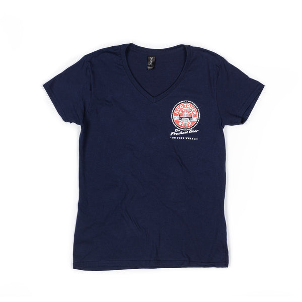 RED TRUCK WOMEN'S NAVY TEE