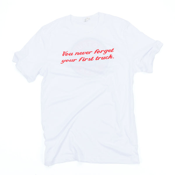 First Truck Men's White T-Shirt