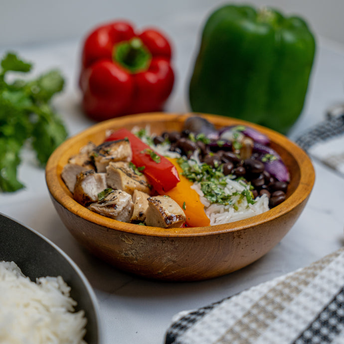 Chicken and Black Bean Basmati Bowl