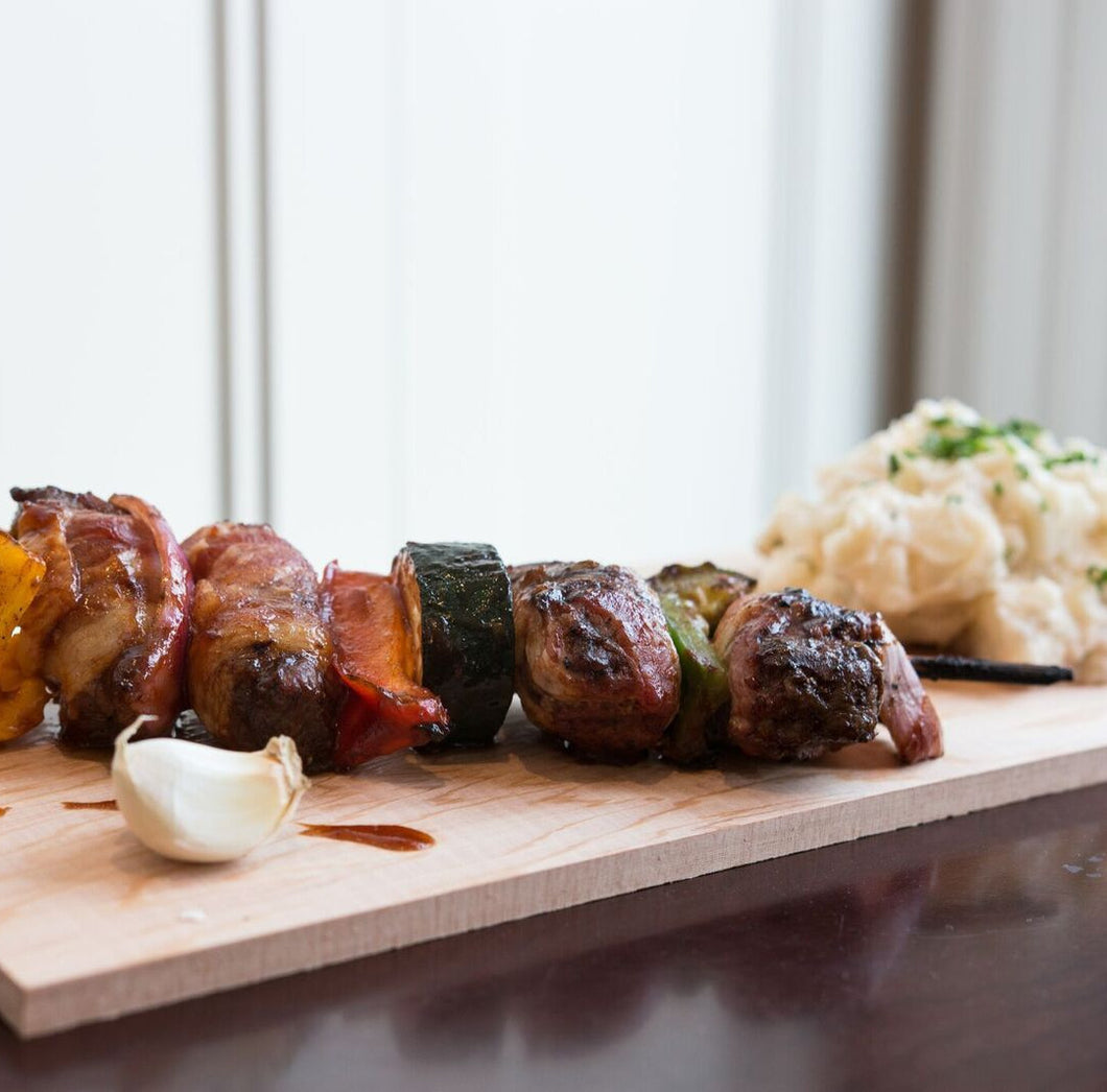 Bacon-Wrapped Beef Kebab